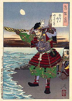 新田義貞(月岡芳年作、Wikipediaより)