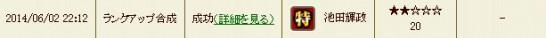 戦国IXA攻略ブログ20140603合成履歴