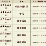 戦国IXA攻略ブログ20140613くじ履歴