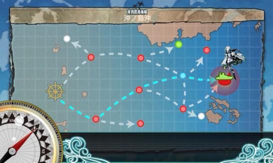 2-4 をクリアすると挑戦できるオマケマップ「Extra Operation 沖ノ島沖戦闘哨戒(2-5)」