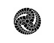 黒田家の定紋「藤巴」、ちょっとシンプル