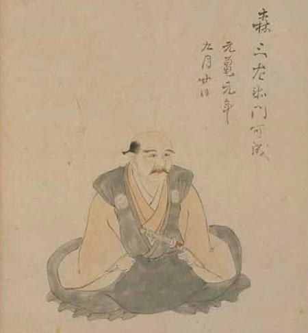 森可成の肖像画/wikipediaより引用