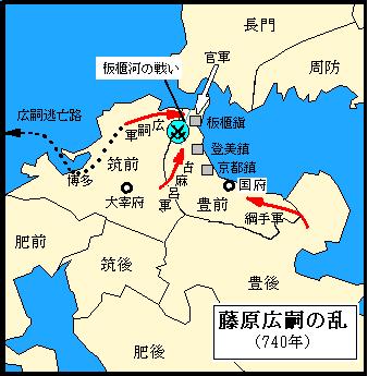 藤原広嗣の乱(Wikipediaより)