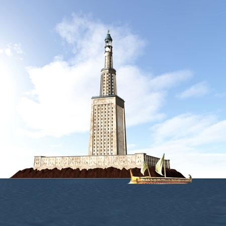 アレクサンドリアの大灯台/Wikipediaより引用