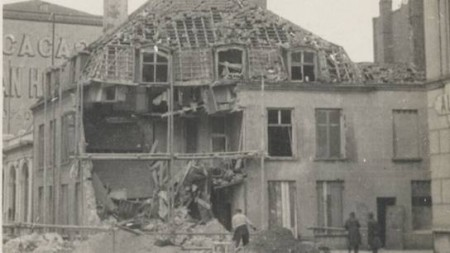 A house in France destroyed during World War One. Credit: Bonhams