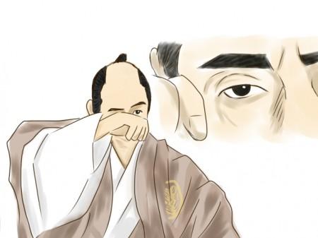 目覚めた家康?(霜月けい・絵)