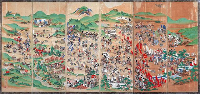 関ヶ原の戦いを描いた関ケ原合戦図屏風/Wikipedia