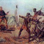 ズールー族の戦士「インピ」たちと英国軍